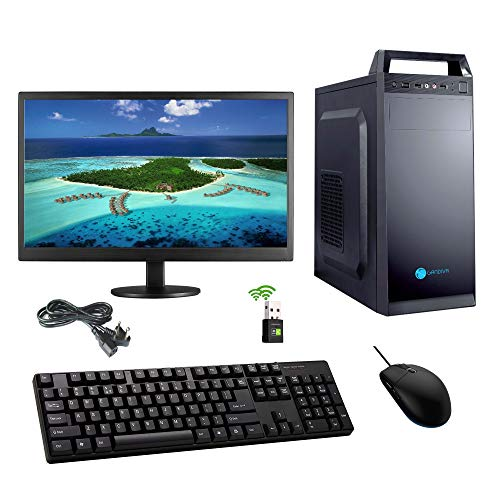 "Gandiva Desktop Computer (Core I3 1st Gen CPU/H55 Motherboard/4GB DDR3 RAM/500GB HDD/18.5"" Monitor/WiFi) Pre Installed Windows 10 & MS Office (Trail Version) and Antivirus (Free Version) Pre-Installed"