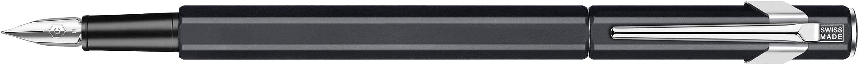 Caran d'Ache 849 Fountain Pen, Matte Black with Aluminum Body, Nib M (840.009)