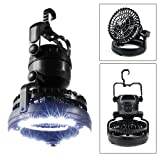 Outgeek Tent Light Fan Portable 18 Led Camping Lantern with Ceiling Fan for Hiking Running...