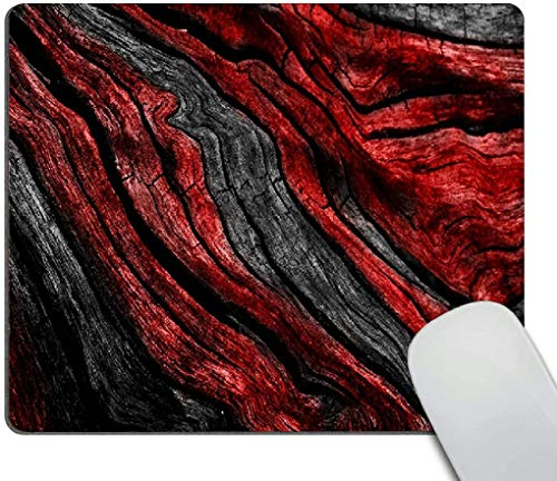 Mouse pad,Red Gray Marble Pattern Waterproof Anime Gaming Gift Mouse Pad Desk Accessories Non-Slip Rubber Mousepad for Laptop Wireless Mouse