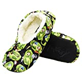 Mens Rick and Morty Slippers - Rick Sanchez, Pickle Rick, Morty Smith Plush Slipper Socks - Character Slippers for Men (Big Kid / Teen / Adult), L/XL