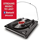 ION Audio Air LP - Platine Vinyle Bluetooth à Trois Vitesses avec Conversion USB - Finition Noir...