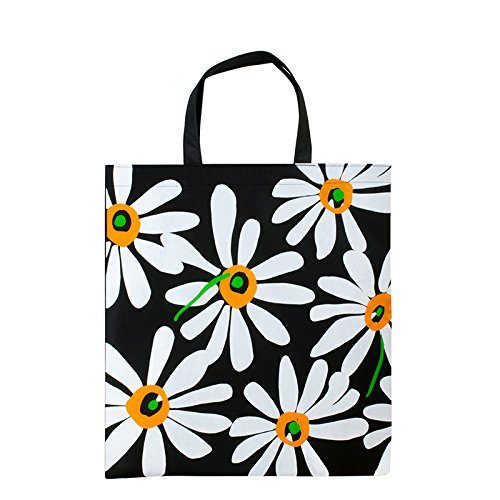 1x Einkaufstasche Motiv Flower | 38 x 42 cm | Polypropylen | PP-Non-Woven-Tasche | Vliestasche | Stofftasche | Tragetaschen | Tüten | Verpackung