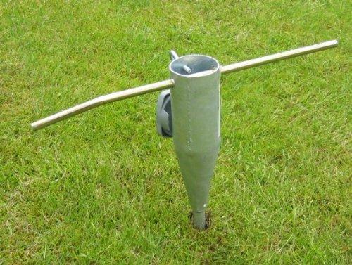 Spetebo Holder Support de Parapluie/ombrelle/Parapluie Pointe métal/Sol à Visser/Porte-séchoir Rotatif/Stand/Pole Mount, Manchon de Sol métallique Vis