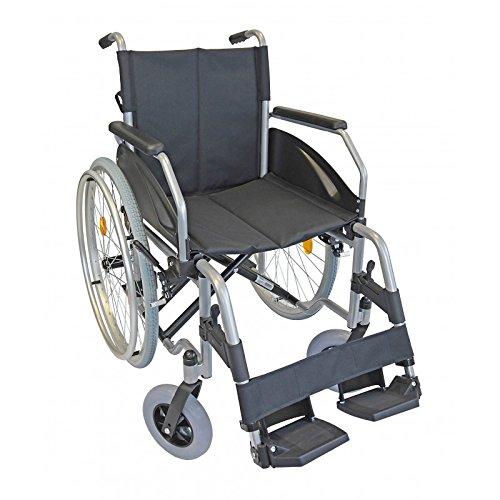 Lexis Rollstuhl mit Steckachsensystem / Reiserollstuhl / Transportrollstuhl / Faltrollstuhl / PU-Bereifung (48 cm)
