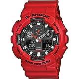 Casio G-SHOCK Reloj Analógico-Digital, 20 BAR, Rojo, para Hombre, GA-100B-4AER
