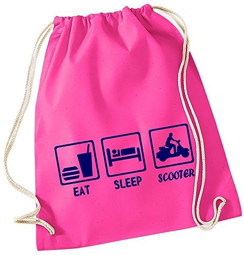 EAT SLEEP SCOOTER ! Gymbag pink-navy