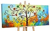 YS Оfrecer hasta 15.10 Art | Cuadro Pintado a Mano Arbol de Dinero| Pintado a Mano | Cuadro Moderno acrilico | 115x50 cm | Lienzo Pintado a Mano | Cuadros Dormitories | único | Multicolor