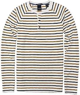 【スコッチ&ソーダ】LONG SLEEVE GRANDAD TSHIRT COMBO A ヘンリーネックTシャツ SCOTCH&SODA