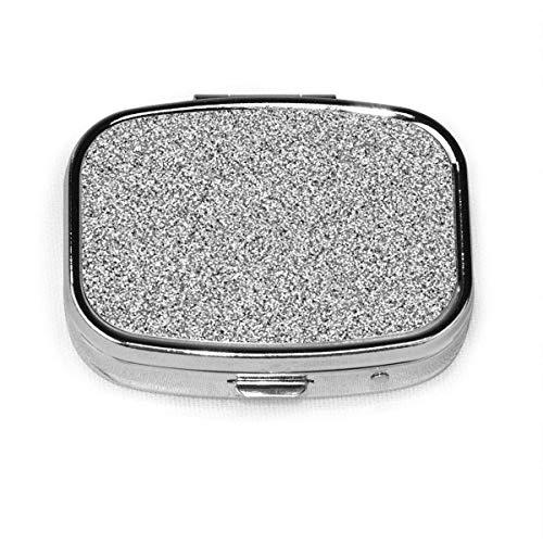Bolsillo o cartera decorativos personalizados aduana de plata del envase de la vitamina de la caja de la píldora cuadrada de