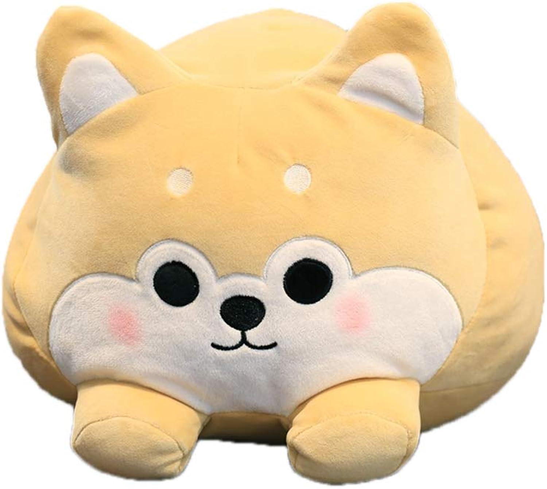 Creative Dual Purpose Pillow Flannel Blanket Within Cartoon Shiba Inu Shape Pillow Sofa Cushion Plush Toy for Kids