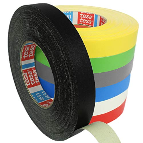 Tesa 4651 Premium Gewebeband verschiedene Breiten und Farben wählbar/schwarz 25 mm x 25 m