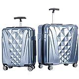 Merax Newest 2 Piece Luggage Set TSA Approved Luxurious Suitcase (Soft Blue)