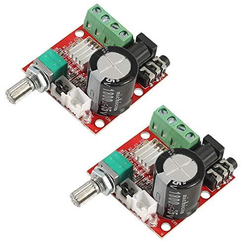 PAM8610 Mini-Stereo-Verstärkerplatte, digital, tragbar, 10 W + 10 W, Dual-Channel-Verstärker Klasse D, 12 V DC, 2 Stück
