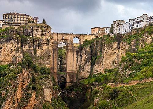 Ronda, Malaga, España 1000 Piezas De Rompecabezas Grueso Engrosado Re