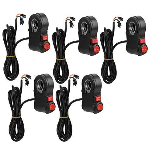 Okuyonic Interruptor de Manillar de 3 velocidades para Bicicleta eléctrica para E-bick