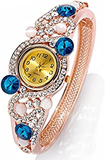 Best Diwali Gifts : YouBella Luxury 18k Rose Gold Bangle Watch Bracelet Jewellery for Girls and Women
