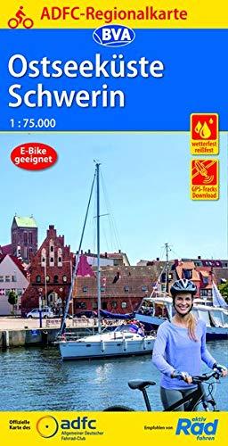 ADFC-Regionalkarte Ostseeküste Schwerin, 1:75.000, reiß- und wetterfest, GPS-Tracks Download (ADFC-Regionalkarte 1:75000)
