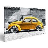 bilderfelix® Bild auf Leinwand Käfer Vintage Beetle Gelb