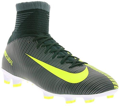 Nike Unisex-Kinder Mercurial Superfly V CR7 FG Fußballschuhe, Grün (Seaweed/White 376), 38 EU