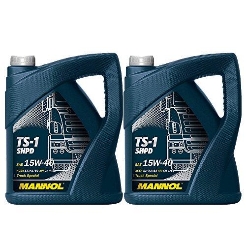 MANNOL 2 x 5L TS-1 SHPD 15W-40 API CH-4 / LKW Busse Motoroel VDs-2