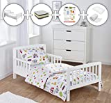 Kinder Valley Complete 7 Piece Toddler Bed Bundle with Kinder Flow Mattress and Circus Friends Reversible Bedding Set