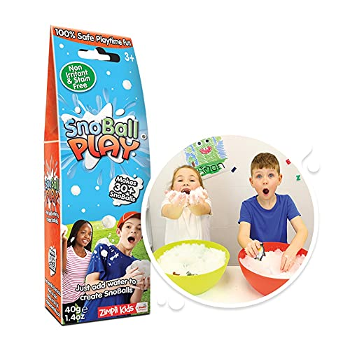 Snoball Play from Zimpli Kids, Turns water into snow, Stocking Fillers for Children, Christmas Presents for Boys & Girls, Xmas Gifts