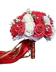 Godagoda - Ramo de flores artificiales para boda, ramo de novia