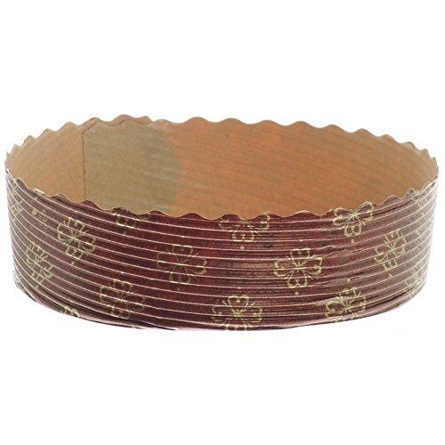Brown Cellulose Paper Ovenable Mini Pie Baking Mold - 4'Dia x 1 1/8'H