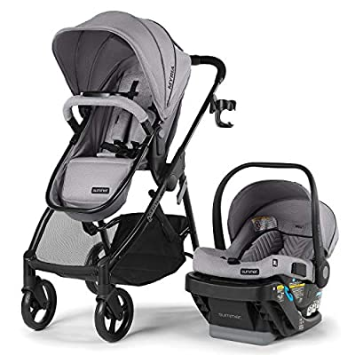Summer Myria Modular Travel System with The Affirm 335 Rear-Facing Infant Car Seat, Stone Gray – Convenient Stroller and Car Seat with Advanced Safety Features