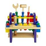Nuheby Kit Attrezzi per Bambini 42 PCS Cassetta Attrezzi in Legno da Lavoro Giochi per Bam...