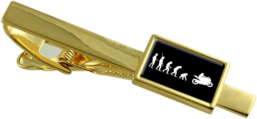 Select Gifts Evolution Limited Special Price Ape to Man P Clip Gold-Tone Motorbike Tie Dallas Mall