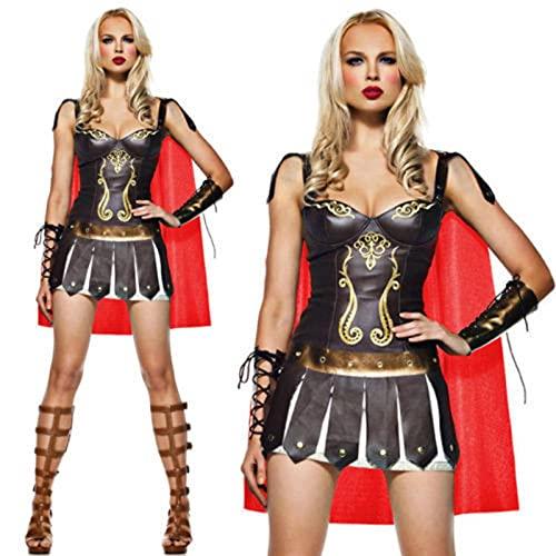 N\C Vestido de Halloween, Disfraz de Guerrero Espartano Sexy, tentación Uniforme, Cosplay