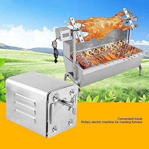 51+igQw ZKL - WYZXR SP-S40 Edelstahl BBQ Grill Röster Elektromotor Große Kapazität Automatische Drehung Einfache Installation Ziegenschwein Huhn Grillzubehör im Freien (220V-240V)