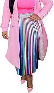 rainbow patchwork skirt