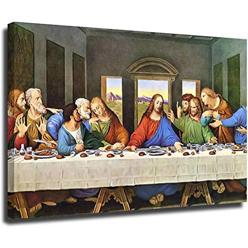 La última cena lienzo impresiones cuadro modular pinturas para sala de estar cartel en la pared, hogar, sala de estar, dormitorio, decoración sin marco, 80 x 120 cm