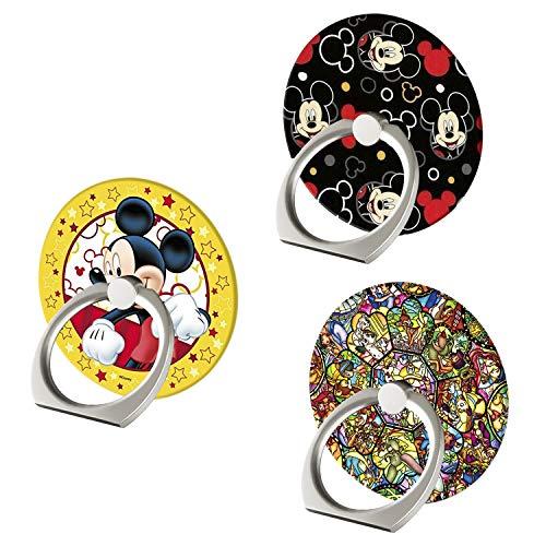 Soporte para Anillo de teléfono de Disney, 360°, Ajustable, con Soporte para el Dedo y Soporte para iPhone 11 XR XS MAX, Samsung, Smartphone y iPad (3 Unidades)