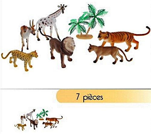 BG Sachet Figurines Animaux DE LA Savane 7 Pieces Jouet