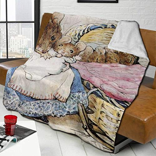 Without Bandaid Air Conditioning Blanket Quilt Blanket Bed Sofa Movie Travel Anti-Wrinkle Anti-Allergic 80X60 Anime /& Girl