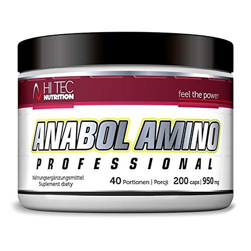 Anabol Amino 200 Capsules | BCAA Branched Chain Amino Acids | Leucine | Isoleucine | Valine | Anabolic and Anticatabolic