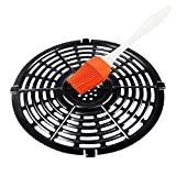 Air Fryer Replacement Parts, Grill Plate for 5QT Air Fryer Pan Non-Stick Air Fryer Accessories 8.74 * 8.74 inch Replacement Parts Air Fryer Rack with Brush Steam Rack Dishwasher Safe