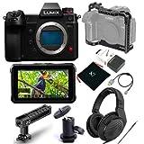 Panasonic Lumix DC-S1H Mirrorless Digital Camera, Body Only - Bundle with Atomos Shinobi 5.2' IPS Touchscreen Monitor
