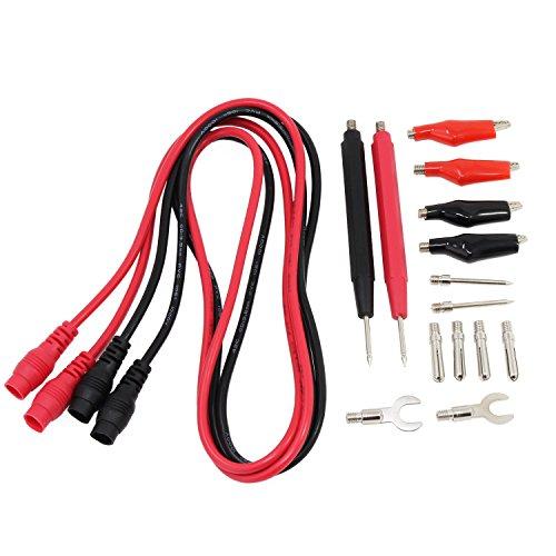 HSeaMall 16pcs Multímetro multifunción Cable prueba