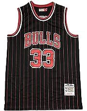 KKSY Heren Jerseys Pippen #33 Chicago Bulls Basketbal Jerseys Ademend Vest