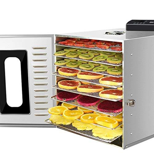 Machine de conservation des aliments, Dessiccateur de nourriture, économie d'énergie multi de machine de dessiccateur de ménage de Digital de fonction multi et efficace 8 plateaux d'acier inoxydable,