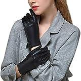 【GSG】革手袋 レディース レザーグローブ スマホ タッチパネル対応 シープスキン 女性 冬 保温 防寒 防風 暖かい 運転 ドライビンググローブ 車 バイク フォーマル 2306