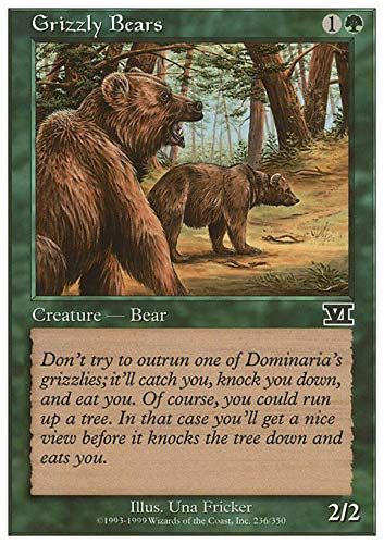 Magic The Gathering - Grizzly Bears - Sixth Edition