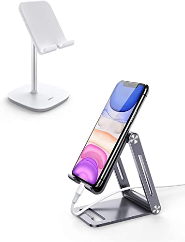 popular UGREEN Tablet Stand Compatible for iPad with Aluminum Phone Stand Bundle Desk Holder Adjustable Compatible for iPad Mini 4 3 online 2, iPhone, Nintendo Switch, Samsung Galaxy Tab 2021 A, E-Book Reader sale
