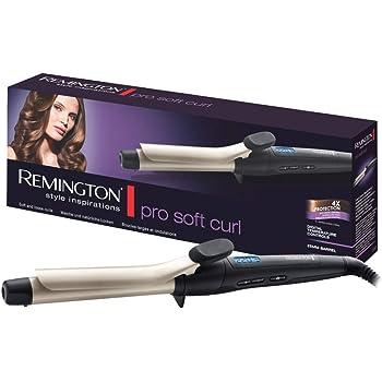 Remington Ci6325 Ferro Arricciacapelli Pro Soft Curl, Rivestimento in Ceramica e Tormalina, Nero/Argento