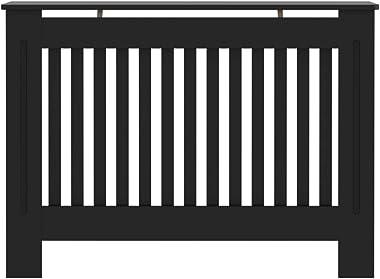 "Tidyard Radiator Cover Heating Cover Cabinet Black, Living Room Furniture Decor 44.1""x7.5""x31.9"" MDF"